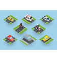 Public Transportation Traffic Items Collection vector image vector image