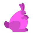 rabbit monster radioactive large purple bunny vector image vector image
