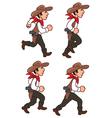 Running Cowboy Sprite vector image vector image