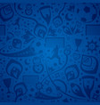 seamless blue soccer background vector image