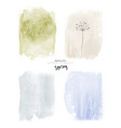 set art spring watercolor and doodle vector image vector image