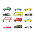 set different types transportation icons vector image