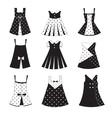 Set of kid girl dress icons vector image