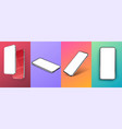 set realistic smartphone mockup set modern vector image