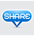 Share Button vector image vector image