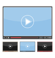 Simple Video Player vector image vector image