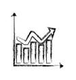 sketch chart statistics graphs arrow business vector image vector image