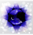 space with stars and crescent moon on vector image vector image