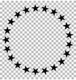 stars in circle icon on transparent stars in vector image vector image