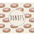 sweet donuts design vector image vector image