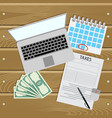 taxes online pay day for tax vector image vector image
