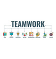 teamwork collaboration typography banner vector image vector image