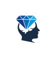 think diamond logo icon design vector image