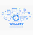 time management alarm clock vector image