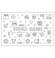 video game horizontal outline banner vector image vector image