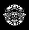 vintage helmets design logo vector image