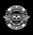 vintage helmets design logo vector image vector image