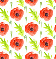 Watercolor poppy in vintage style
