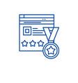 webiste rating line icon concept webiste rating vector image vector image