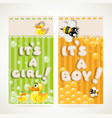 yellow nd green vertical banners its a baby vector image
