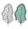 Zentangle stylized tribal feather for coloring vector image vector image