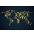 Abstrackt bright glowing map on dark blue vector image