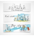 Big city banners vector image