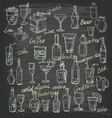 hand beverages vector image