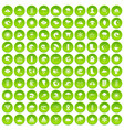 100 weapons icons set green circle vector image vector image