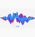 3d solid surface audio wavefrom abstract vector image vector image