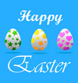 a happy easter greeting card vector image vector image