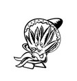 agave plant wearing sombrero sitting and sipping vector image vector image