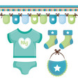 baby clothing design vector image vector image