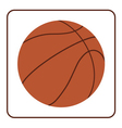 basketball ball 2 vector image
