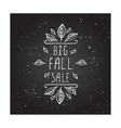 Big Fall Sale - typographic element vector image
