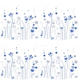 Blue grass pattern vector image