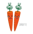 cartoon carrot vegetables design isolated vector image