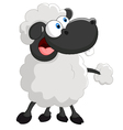 Cartoon cute sheep on white background vector image vector image