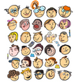 cartoon peoples faces vector image vector image