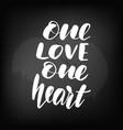 chalkboard blackboard lettering one love vector image vector image