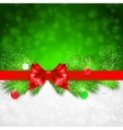 Christmas background with fir twigs and christmas vector image