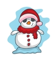 Christmas snowman funny collection stock vector image