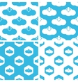 Cloud download patterns set vector image vector image