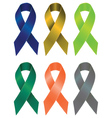 Colorful Ribbons Set5 vector image