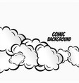 comic clouds background design vector image vector image