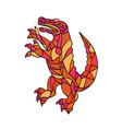 crocodile prancing mosaic color vector image vector image