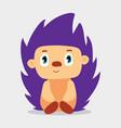cute little cartoon hedgehog kid graphic vector image vector image