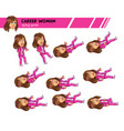 dying career woman game sprite vector image