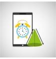 education online smartphone app clock geometry vector image vector image