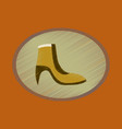 flat shading style icon footwear women boot vector image vector image